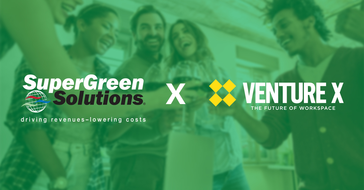 Venture X Teams up with SuperGreen Solutions® on Synergy of Services